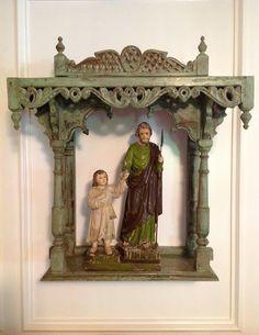Saint Joseph and the Christ Child Santos from the Philippines art Casa Jacaranda in South Texas.