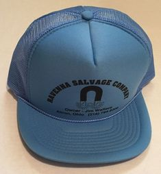 e92352f8436 Vtg Ravenna Salvage Company Trucker Hat Akron Ohio Magnet Jim Wallace Cap  Junk  CobraCaps