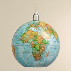 weve converted a traditional desk globe into a versatile hanging light with our exclusive childrens pendant lighting