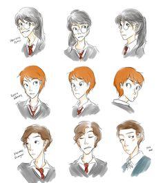 Harry Potter Genderbender by CrownCat