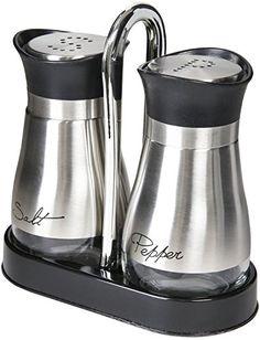 Salt and Pepper Shakers - Pepper & Salt Shakers w/ Stand, 4 Juvale http://www.amazon.com/dp/B00PV3SZOO/ref=cm_sw_r_pi_dp_H07Xwb1BQ36X8