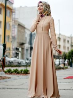 Nisa Dresses - Lâl By Hilal, Dresses. Modanisa your online muslim modest fashion store. Dress Muslim Modern, Muslim Dress, Abaya Fashion, Modest Fashion, Fashion Dresses, Fashion Fashion, Moslem Fashion, Hijab Gown, Islamic Fashion