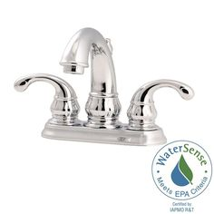 Pfister Treviso 4 in. Centerset 2-Handle Bathroom Faucet in Polished Chrome-LF-048-DC00 - The Home Depot