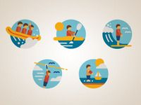 Water Adventure icons