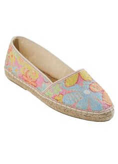 Spanish Lace Flat Espadrille Pumps - Get ready for summer with these lightweight espadrille pumps in this stunning multi-coloured lace. Made in Spain with a single jute covered sole, the attention to detail is second to none. Team these with a pair of crisp white linen trousers for those strolls along the promenade. #fashion #style #shoes #kaleidoscope www.kaleidoscope.co.uk