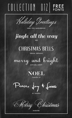 Holiday Free Font Collection