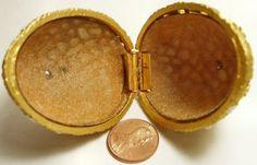 Vintage-Frederick-Mosell-Egg-Trinket-Box-for-Mini-Perfume-Bottle-Rose-Trellis