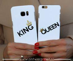 King Queen Koppel Hoesjes www.ontwerp-zelf.nl
