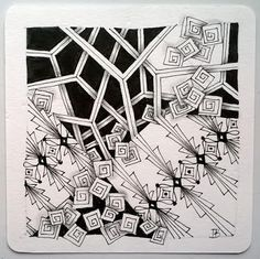 """Tickled To Tangle: """"It's a String Thing"""" #190 Tiles"""