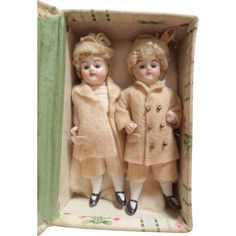 All Bisque Dolls In Box For Dolls House c1910 from theluckyblackcat on Ruby Lane