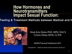 AASECT How Hormones & Neurotransmitters Impact Sexual Function by malanmedia via slideshare