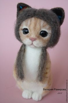 Котенок в шапочке - рыжий,кот,котенок,шапочка,по фото,подарок,покоритель сердец