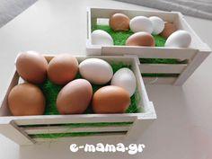 Βάφουμε πασχαλινά αυγά με χρώματα ζαχαροπλαστικής - e-mama.gr Food Coloring, Eggs, Easter, Breakfast, Diy, Morning Coffee, Bricolage, Egg