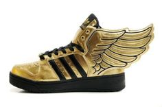 b3e9b91adfa usa cheap sale Adidas Originals Mens Womens Jeremy Scott Gold Wings  Trainers Size 3 4 5 ...