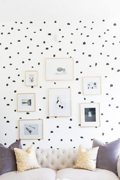 Mr. Kate - DIY Brush Stroke Inspired/ Polka Dot Wall