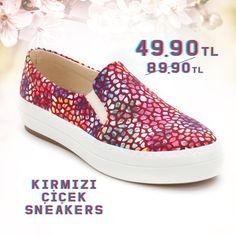 Kırmızı Çiçek Sneakers 49.90TL http://www.modsimo.com/phge~u~kirmizi-cicek-ayakkabi-babet-spor