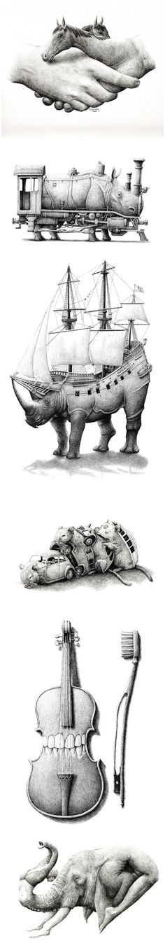 Work by Redmer Hoekstra. I like this piece because it clearly demonstrates transformation. It is meaningful and clever.