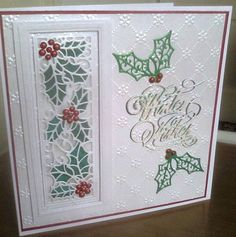 Holly Christmas card | docrafts.com