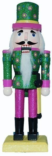 What's pink and green and can crack a walnut (although we wouldn't recommend it)?  Why, our decorative nutcracker with the pink pants and green jacket and hat, of course. This gentlemen would be a great addition to your decorative nutcracker collection or a perfect gift for someone who's style is a little less traditional.