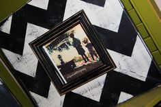4x4 Picture frame with trim in Black and Cream by kygracedesigns, $27.00