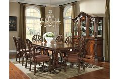 Brown Ledelle Buffet and China View 5
