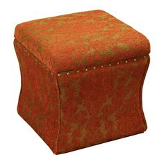 Cinch Red Chenille Storage Ottoman | Overstock.com Shopping - Great Deals on Ottomans