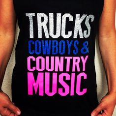 Country Shirts! Country Tanks! ON SALE Trucks Cowboys Country Music by JDishDesigns, More Country Shirts on our website!