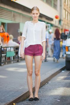 Street Chic: New York  Shorts: H    Top & Shoes: Zara