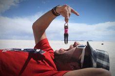Optische Täuschung: Die 20 besten Fotos mit skurrilen Perspektiven - Bilder, Videos - lol.de - Kunst - ausgetrickst