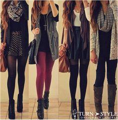 3661a4b997b jewels fall fall outfits fall fashion black burgundy grey tights scarf dress  skirt leather skater skirt socks lita high heels vest shorts ca.