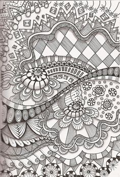 Tangle 35  I LOVE Zentangle!!  Its fun and very creative... I call it glorified doodling!!  TRY IT!!