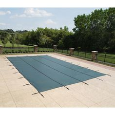 Cover your pool this winter and protect children and pets with a safety cover from our large selection. Sizes to fit any pool. Custom swimming pool safety covers are our specialty! Positano, Pool Safety Covers, Pool Covers, Sport Pool, Rectangle Pool, Pool Sizes, Pool Landscaping, Backyard Pools, Pool Decks