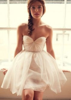 This would be so cute as a reception dress! Ballerina wedding dress