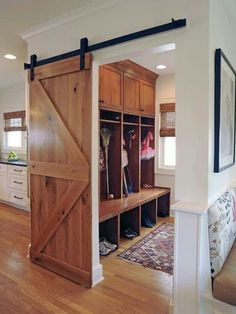 Really like these barn doors.
