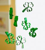 Springtime Paper Crafts: Swinging Shamrocks (via Parents.com)