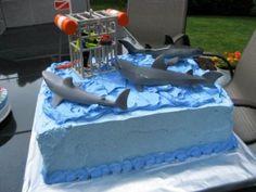 Playmobil Shark Cake: getting closer to a cooler shark cake