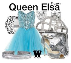 """""""Frozen"""" by wearwhatyouwatch ❤ liked on Polyvore featuring Allurez, John Hardy, Roger Vivier, West Coast Jewelry, Anoushka G, Betsey Johnson, Charriol, disney, television and wearwhatyouwatch"""