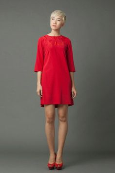 Linda Mai Phung Hitomi Dress 100% Silk Fall Winter 2014, Autumn, Emperors New Clothes, New Outfits, Cold Shoulder Dress, Silk, Collection, Dresses, Design