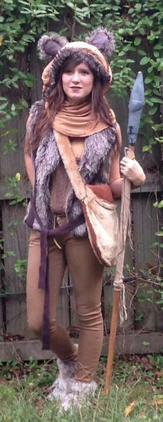 Made my own ewok costume for Halloween this year! Made my own ewok Star Wars Halloween, Costume Halloween, Halloween This Year, Scary Halloween, Ewok Costume Adult, Couple Halloween, Halloween 2020, Halloween Themes, Disney Cosplay