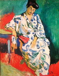 André Derain ~ The Woman with a Shawl (Madame Matisse in a Kimono), 1908