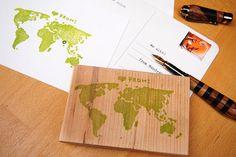 Weltkarte Stempel von audli auf Etsy, 10.00