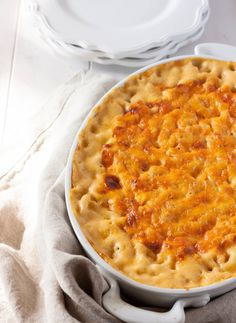 Southern Baked Macaroni and Cheese-maybe the kids will eat this?
