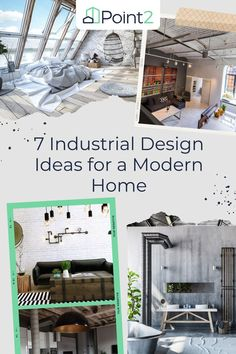 If you're looking to create a moody and more masculine space or if you just want to add a little edge to your decor, working industrial elements into your interior design can help you achieve this goal. These seven ideas ranging from big updates to small touches will help you introduce this progressive style in your home. Industrial Interior Design, Industrial Interiors, Modern Industrial, Home Design Decor, House Design, Open Layout, Polished Concrete, Concrete Wall, Showcase Design