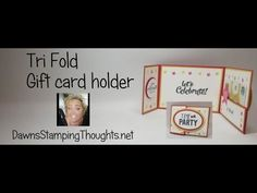Tri Fold gift card holder - YouTube