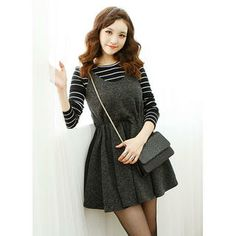 Drawstring-Waist A-Line Knit Jumper Dress from #YesStyle <3 Dodostyle YesStyle.com
