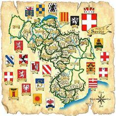 carte des etats de Savoie