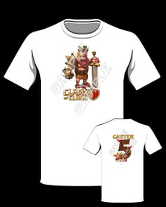 CLASH OF CLANS T-SHIRT Birthday Shirts, 7th Birthday, Birthday Parties, Zip Up Hoodies, Party Favor Bags, Clash Of Clans, Personalized T Shirts, Birthday Invitations, Party Supplies