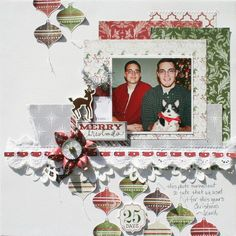 Merry Christmas Layout from Very Merry Christmas Collection. #echoparkpaper