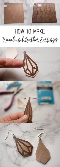 How to Make Faux Leather and Wood Earrings