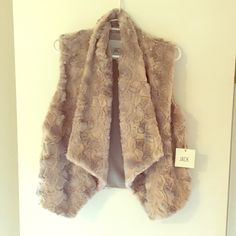 Jack by BB Dakota faux fur vest Super soft faux fur Jack vest with fold over front accent. 100% polyester. Never worn! Jack by BB Dakota Jackets & Coats Vests